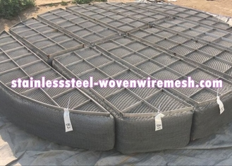 Round Nickel Wire Mesh Demister Pad Mist Eliminator For Chemical Equipment