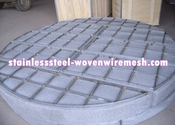 China Round Wire Mesh Demister Pad For Bottom Loading 100 - 150mm Thickness supplier