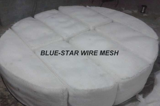 No Frame Demister Mist Eliminator , Chemical Industry Mesh Pad Mist Eliminator