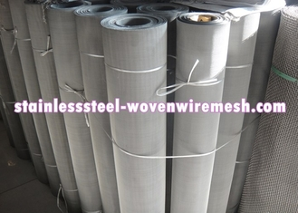 250 - 635 Mesh Stainless Steel Wire Cloth , Woven Metal Mesh Anti - Corrosion