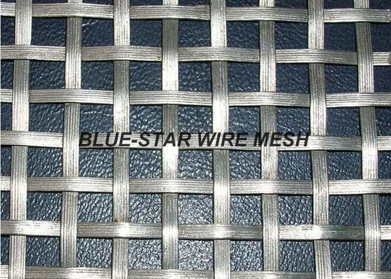 China Flat Wire Intercrimp Wire Mesh For Decoration Square / Rectangular Aperture supplier
