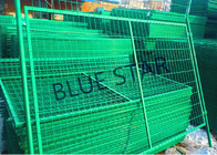 China Highways Green Metal Fencing , High Strength Welded Galvanised Mesh Fencing factory