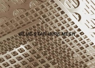 China Gold Decorative Brass Perforated Metal Sheet With Holes Anti - Corrosion factory