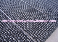 China Carbon Steel High Tensile Crimped Wire Mesh With Square Aperture And Round Wire In Sheet factory