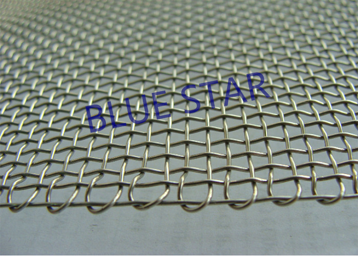 Embossing Edge Double Locked Crimped Wire Mesh , Galvanized