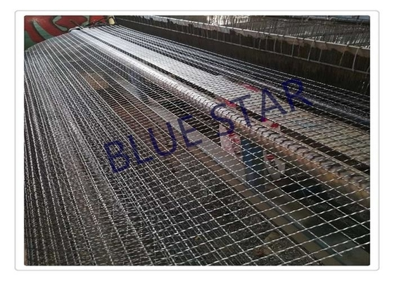 Galvanized / Carbon Steel Wire Mesh Single / Double Intermediate Weave Pattern