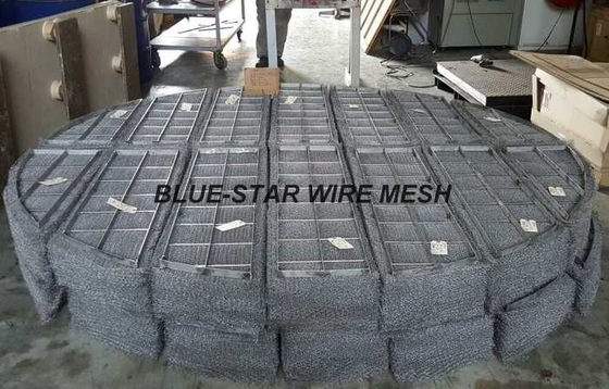 Duplex Stainless Steel Filter Wire Mesh Demister Pads / Coalescer 300 mm - 6000 mm