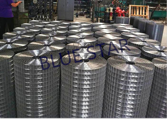 Heavy Welded Wire Mesh Oxidation Resistance , Galvanized Welded Wire Mesh Rolls