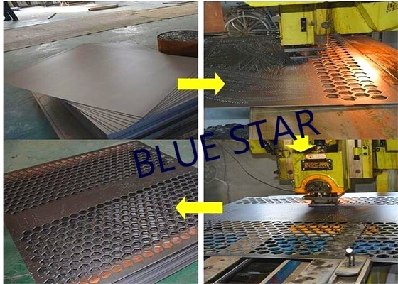 Decorative Perforated Sheet Metal Panels , Perforated Copper Sheets Corrosive Resistance