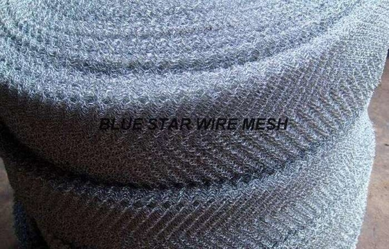 304 /316L Stainless Steel Filter Wire Mesh Flat Wire Knitted Wire Mesh For Filtration