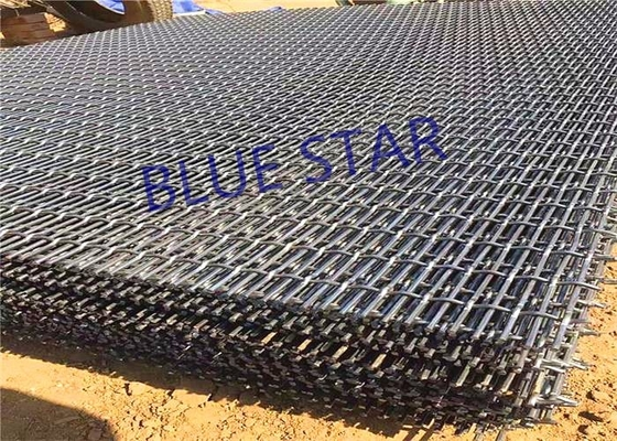 Galvanized Steel Mining Screen Mesh Sheet / Roll 1 - 5M Width Anti - Corrosion