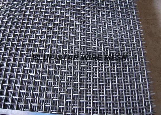 Rigid High Carbon Steel Wire Mesh For Processing Stones / Sand / Gravel Coal