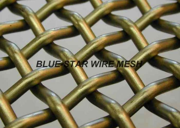 EpoxyPainted Crimped Mining Screen Mesh Sheet High Tensile For Vibrating Machine
